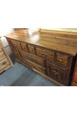 4 drawer dresser with cabinets dark oak