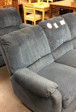 Dual reclining sofa and love blue