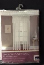 One Rod Pocket Panel White