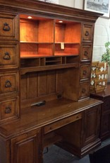 2 piece desk with hutch walnut