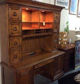 2 piece desk with hutch walnut
