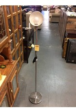Bending floor lamp silver
