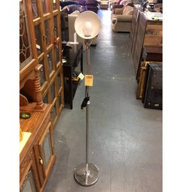 Bending floor lamp silver