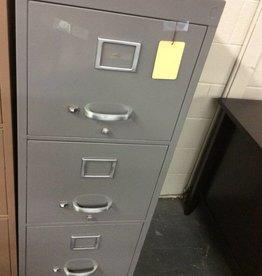 4 drawer file grey