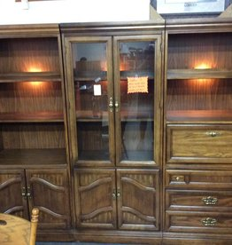 3 piece wall unit dark walnut