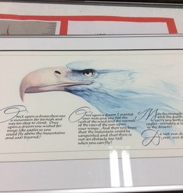 Picture eagle with script