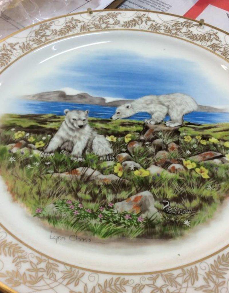 Decor plate polar bears
