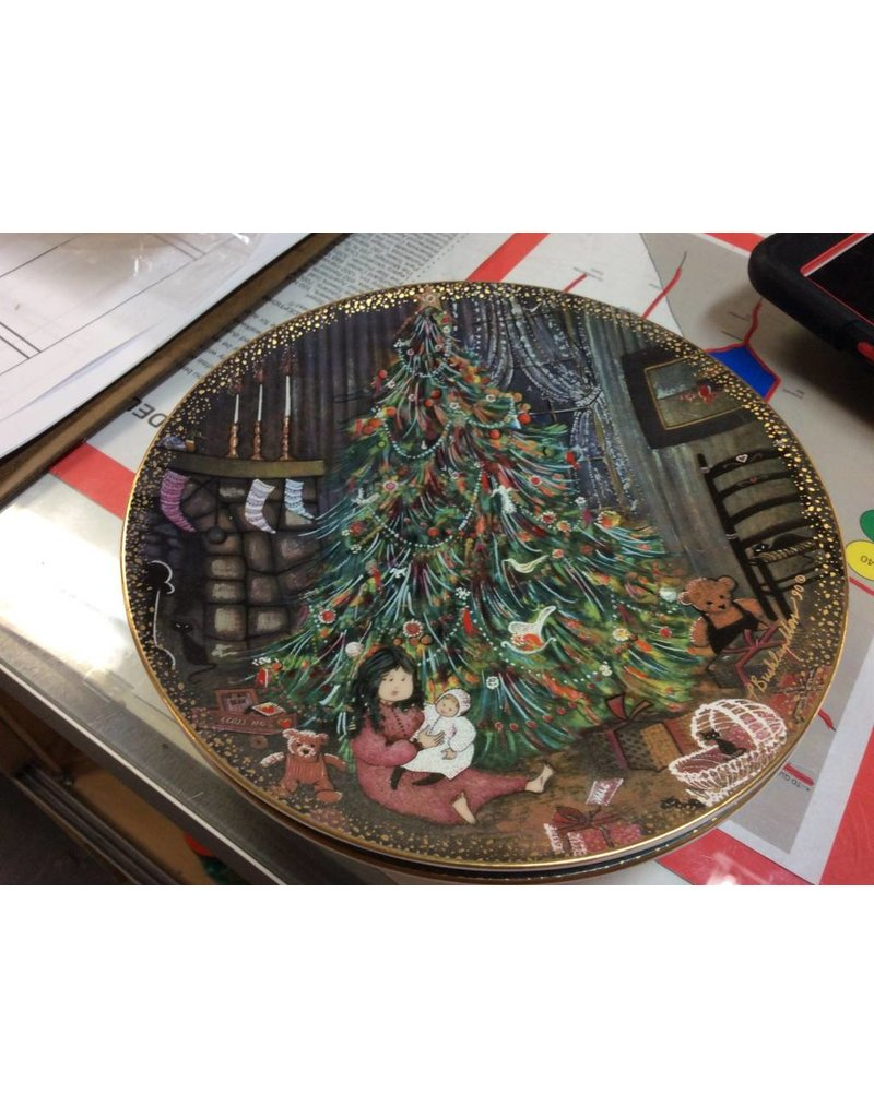 Decor plate Christmas tree