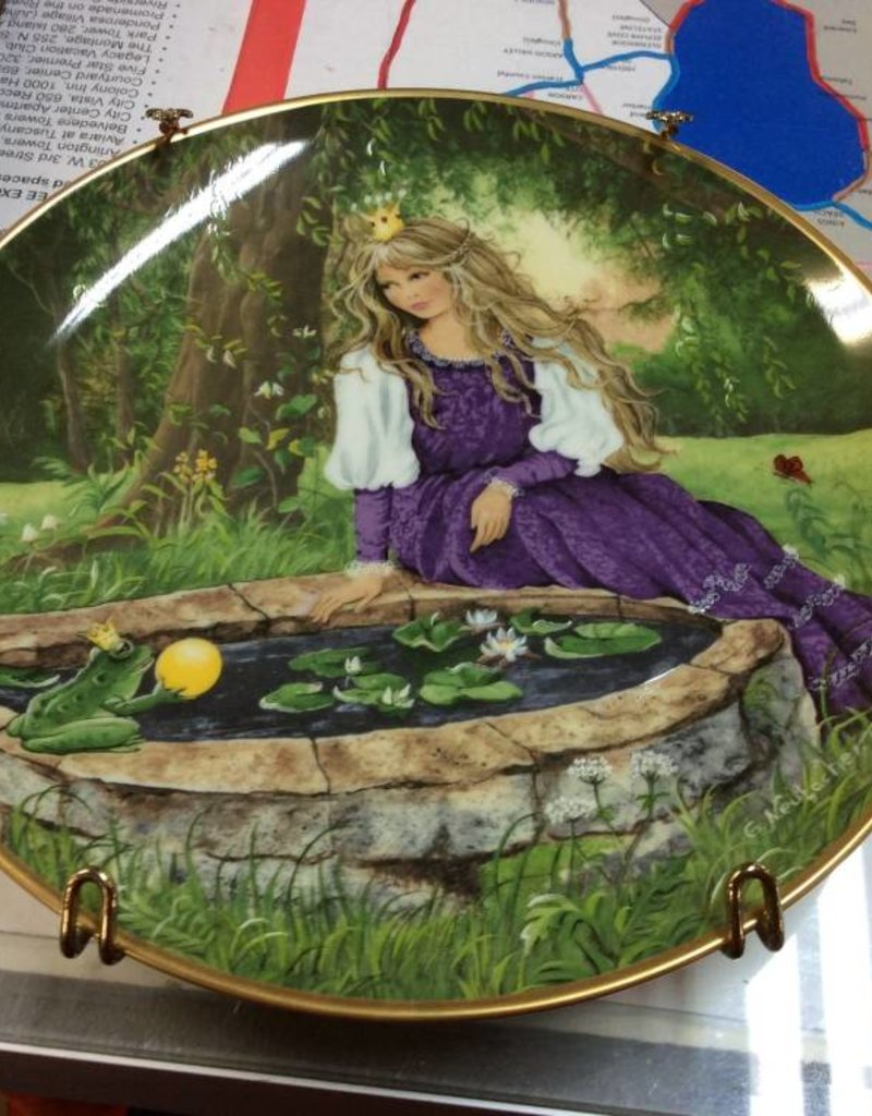 Decor plate princess and frogs