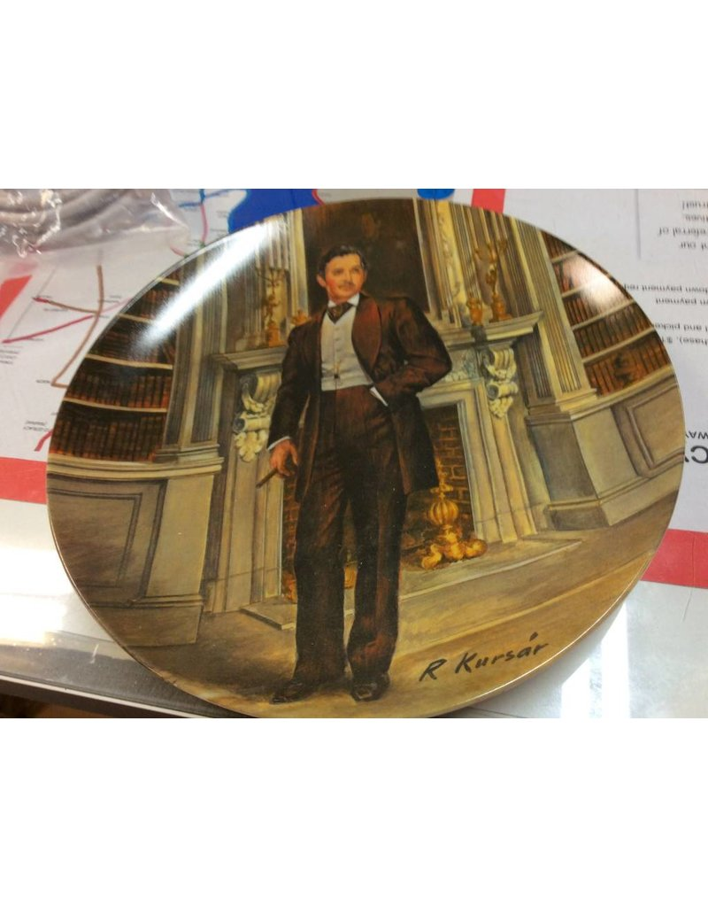 Decor plate man with cigar