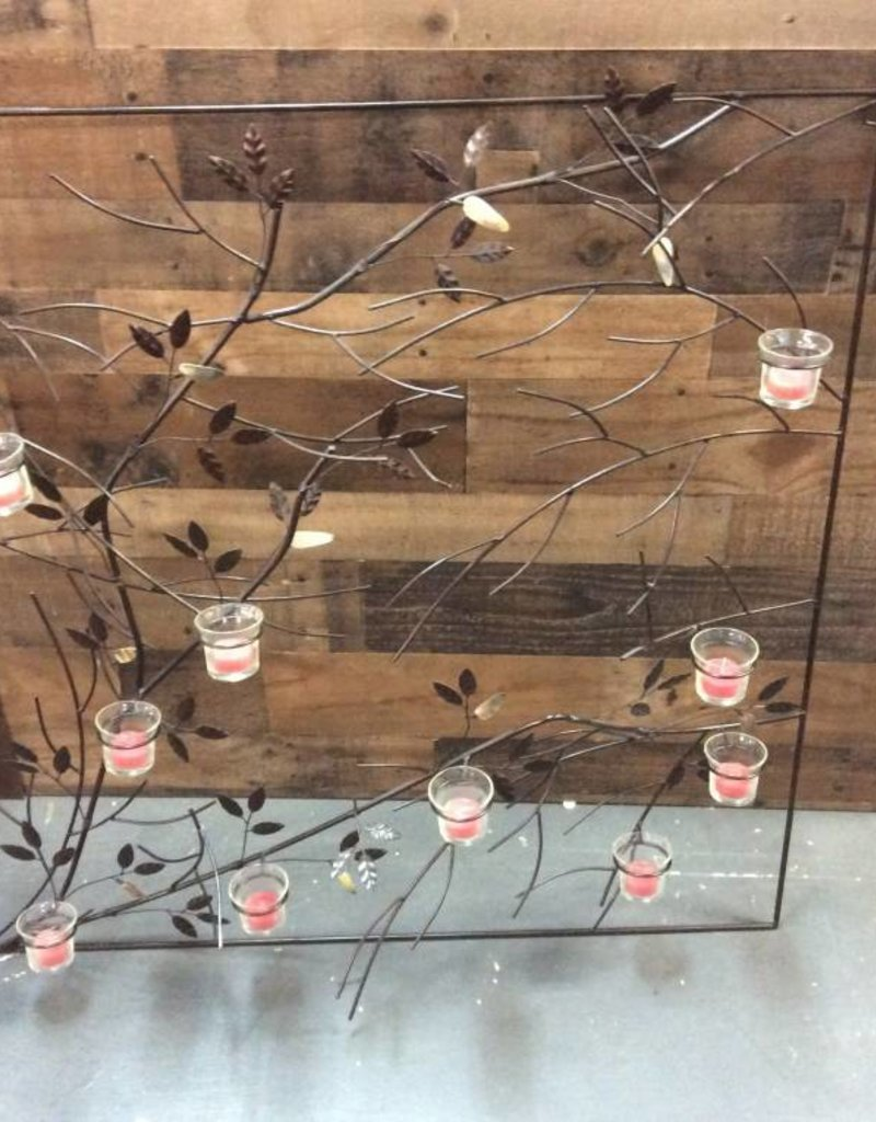 Large wall hanging candle holder