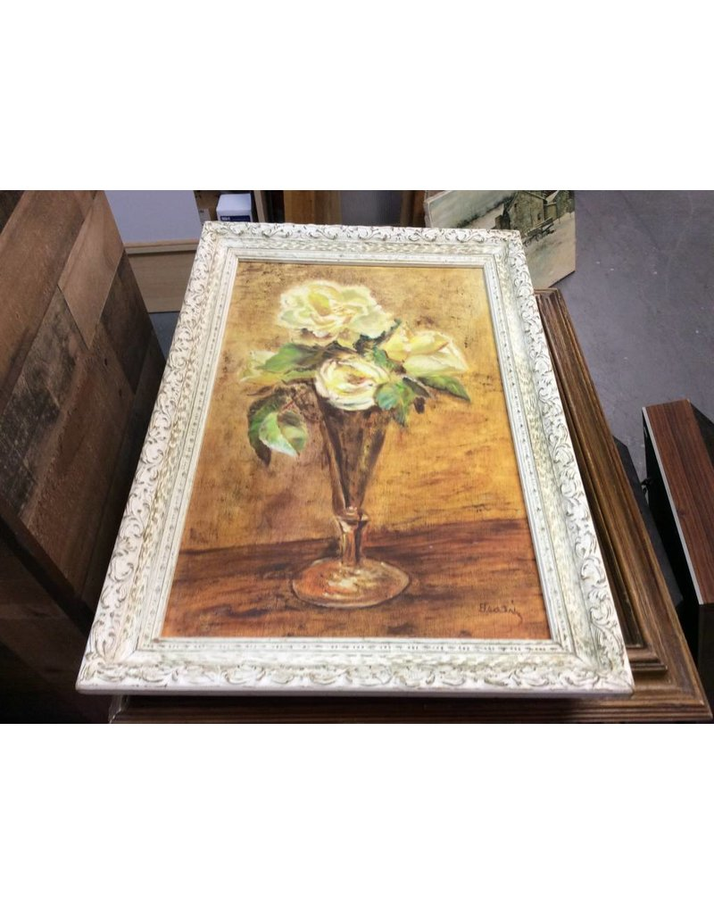 Picture vase with flowers yellow