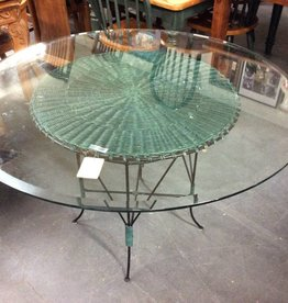 Table only round glass