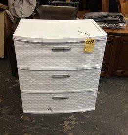 3 Drawer storage, white