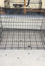 Dog kennel / black, metal