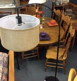 """5'8"""" floor lamp brown metal"""