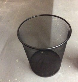 Small trash can black metal