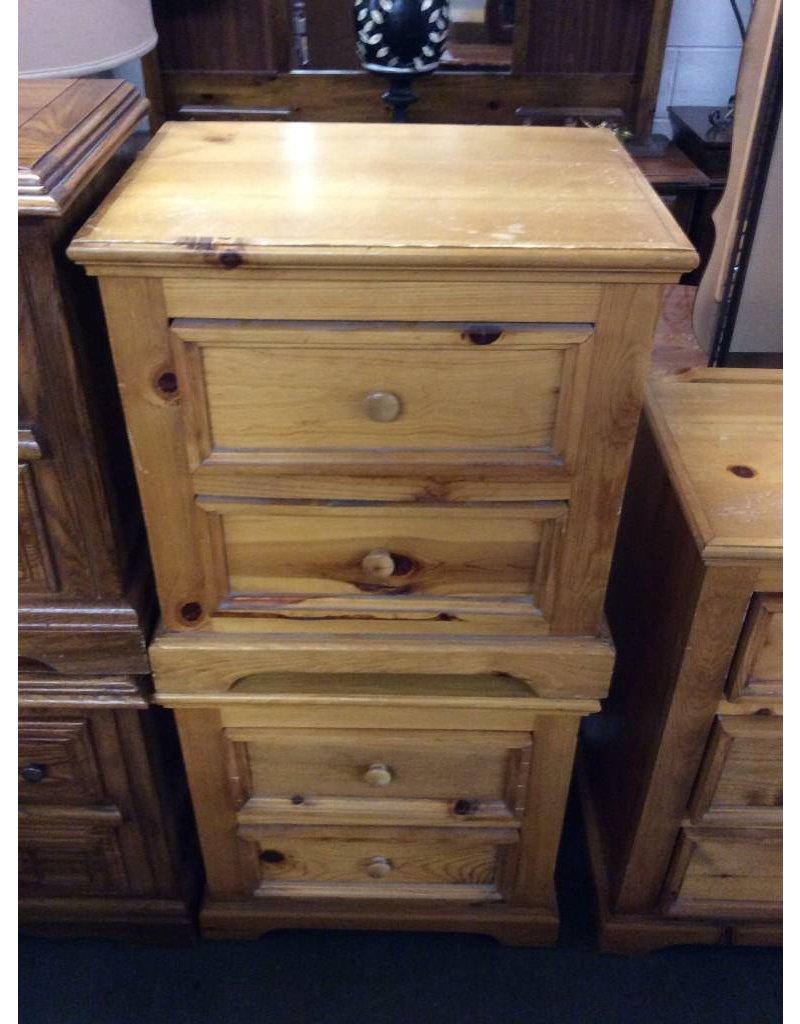 Pair 2 drawer NS / pine