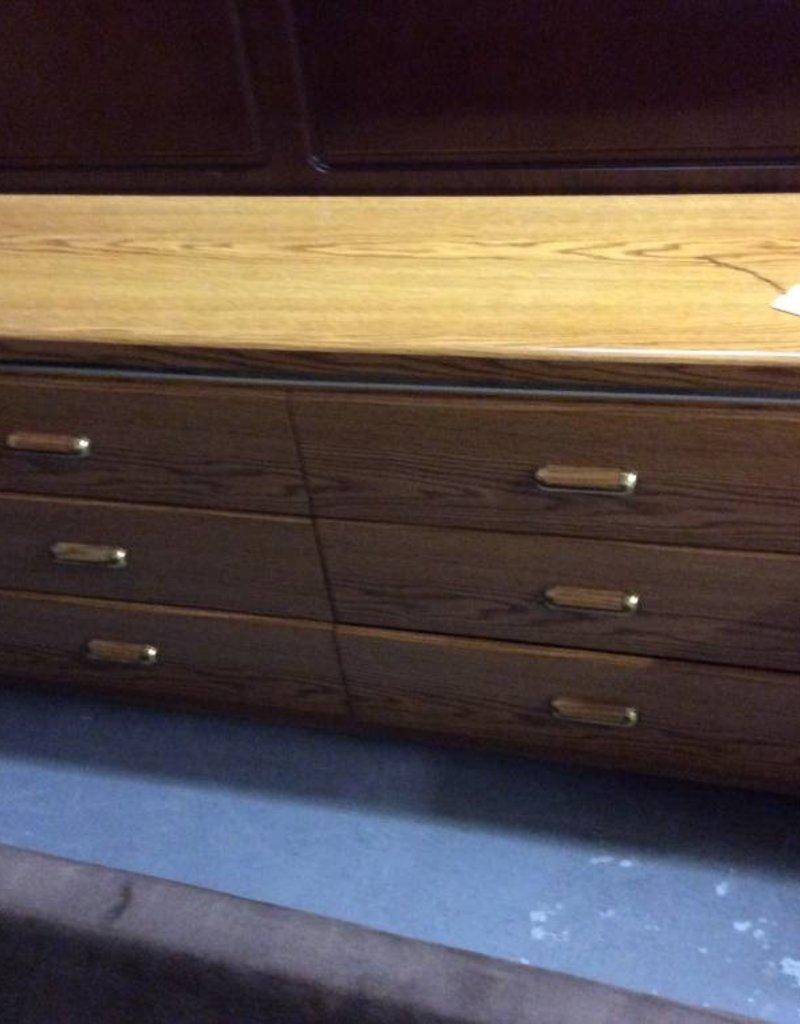 6 drawer dresser / oak wrap