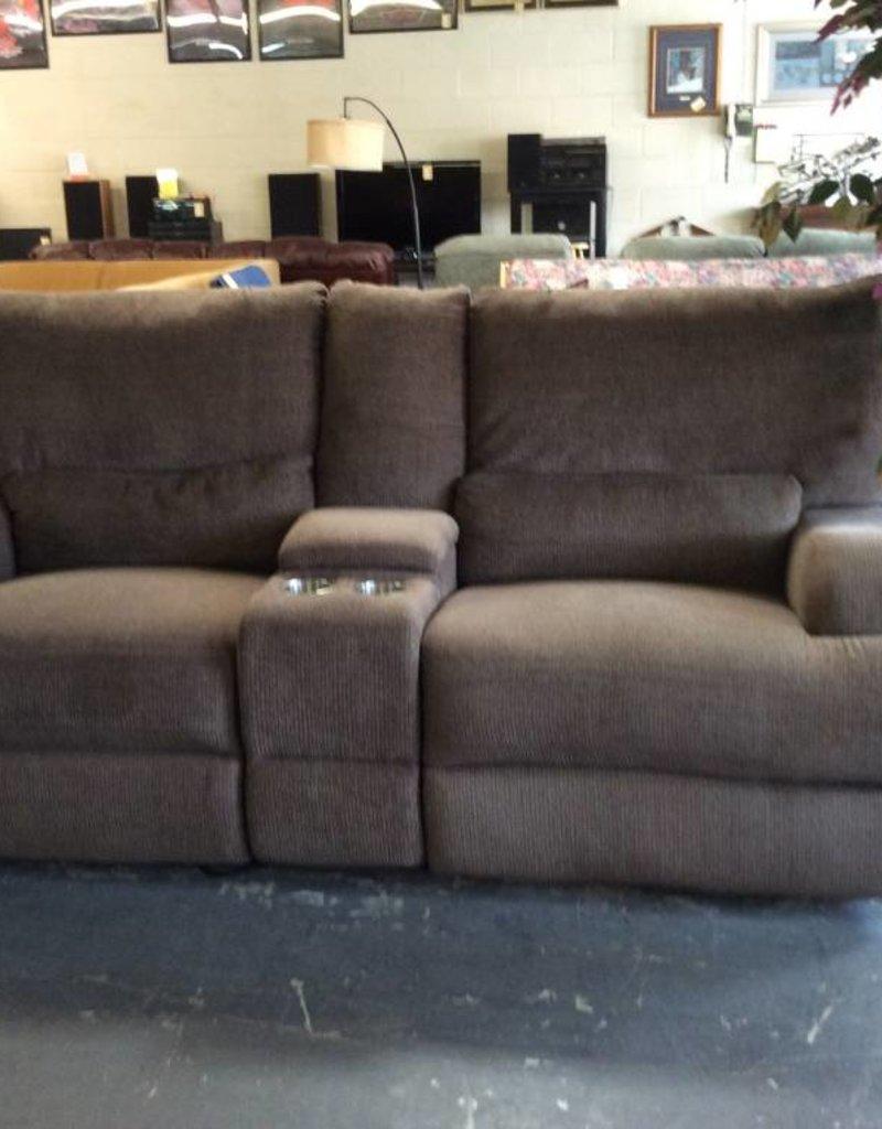 Electric Dual Rec Sofa Brown Tweed