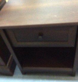 1 drawer nightstand oak wrap