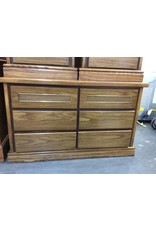 6 drawer dresser / wicker on front