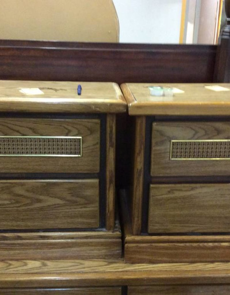 Pair 2 drawer NS / wicker front