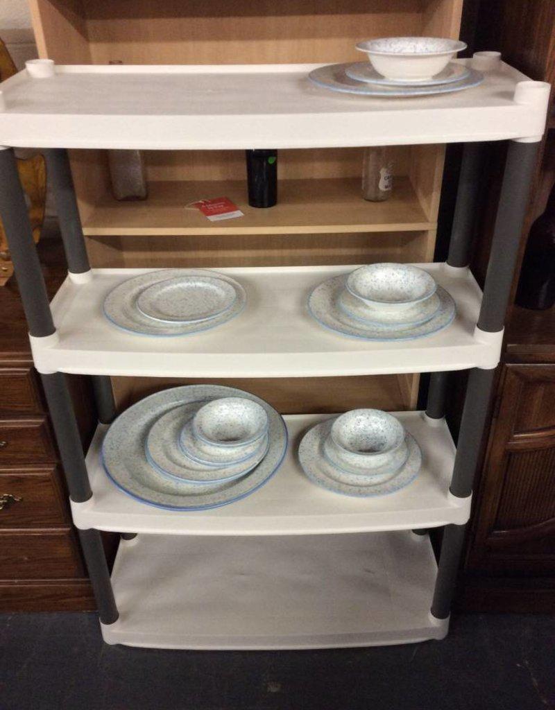 4 tier shelf plastic