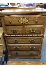 5 drawer chest / oak wrap