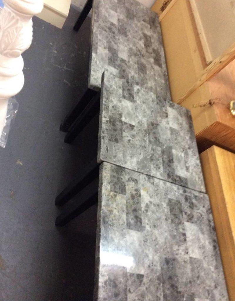 3 piece o.c.c faux marble set
