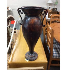 Tall vase red/brown