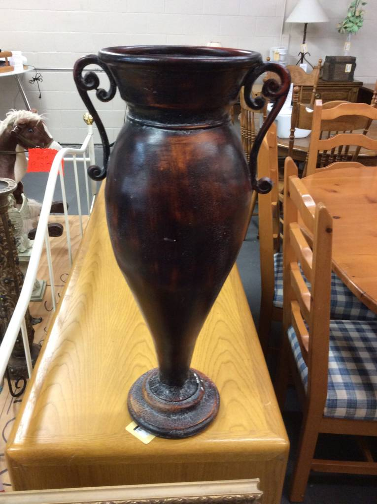 Tall Vase Redbrown Recycled Furniture