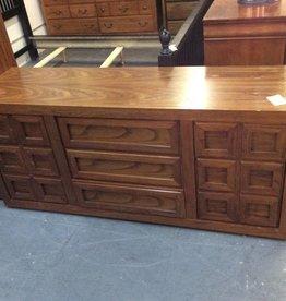 9 drawer dresser / oak wrap