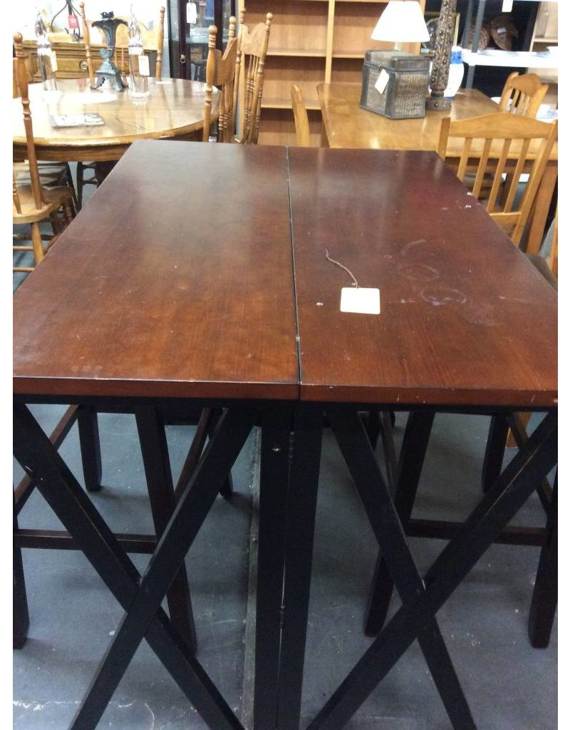 Fold out pub table cherry & black