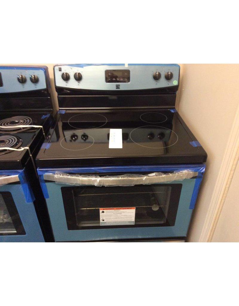 Kenmore electric stove glass top digital black