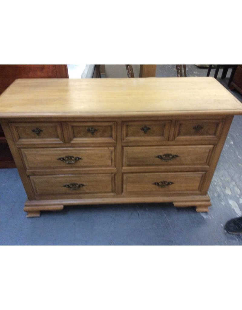 6 drawer dresser oak
