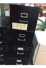 4 drawer file black metal