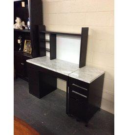 Student desk / espresso w cabinet