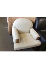 Sitting chair lt tan/ cherry frame