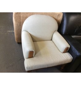 Sitting chair lt tan/ cherry frame