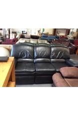 Dual reclining sofa black faux leather