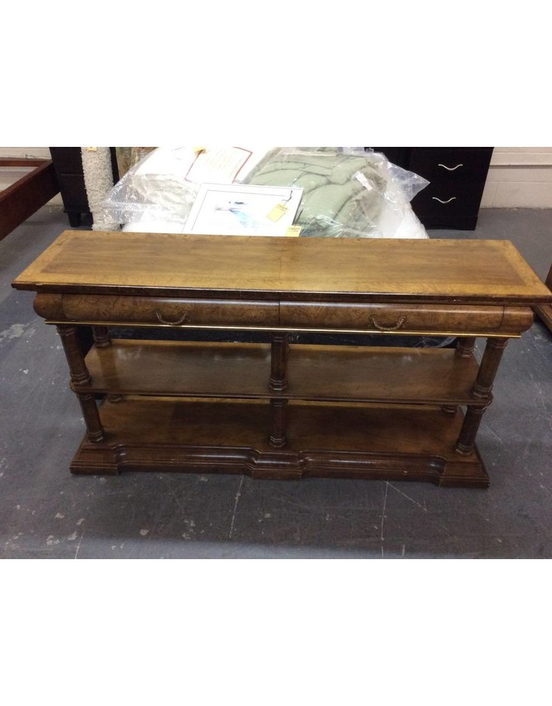 Sofa Table 2 Drawer Maple