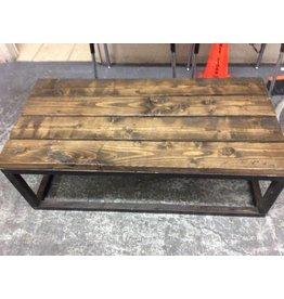 Coffee table all wood 2x6 dark