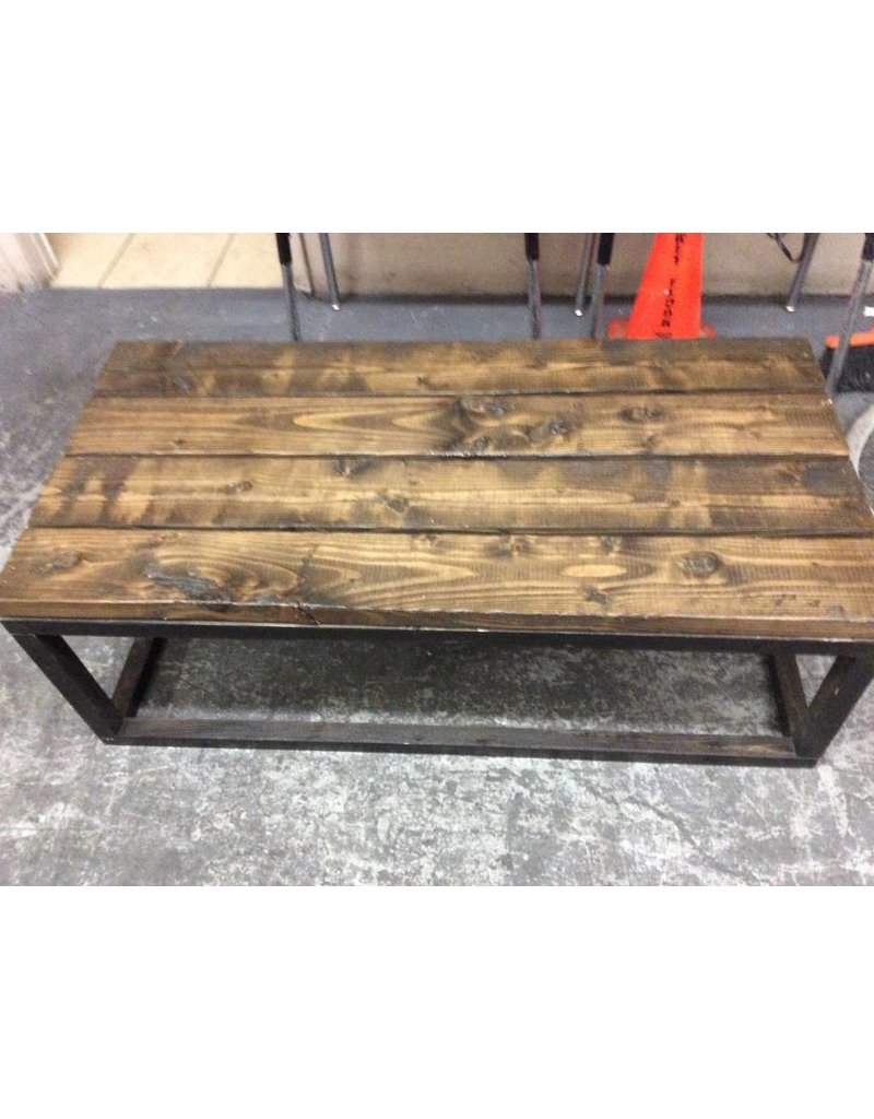 Coffee table all wood 2x6 dark
