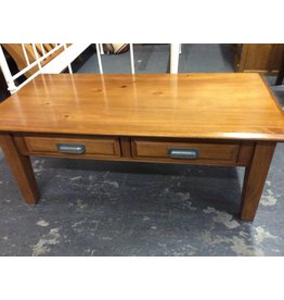 Coffee table 2 drawer pine