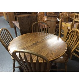 5 piece dinette w/ leaf round oak