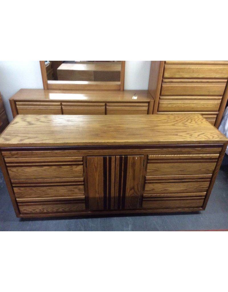 6 Drawer/2 Drawer Dresser, Oak