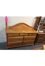 7 Drawer Dresser, Pine, with Mirror
