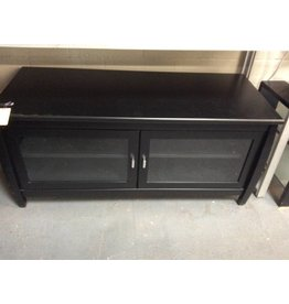 Tv stand 2 Door black/ glass