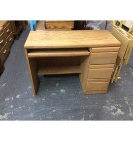 Single ped desk oak